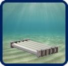 Concrete Subsea Storage Tank Setup, oil storage, storage tank